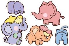 Дизайн персонажа из мультфильма слона семьи иллюстрация штока