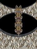 Дизайн печати геометрических цветов животный стоковое фото