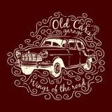 Дизайн печати футболки автомобиля Стоковое фото RF