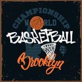 Дизайн печати футболки баскетбола для apprel Иллюстрация штока