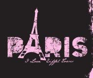 Дизайн печати t-shitr башни Парижа Бесплатная Иллюстрация