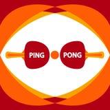 Дизайн пингпонга плоский - иллюстрация Элементы вектора настольного тенниса Стоковые Фото