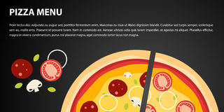 Дизайн пиццы Стоковое Фото
