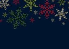Дизайн плаката на сезон рождества, Нового Года или зимы в простом бесплатная иллюстрация