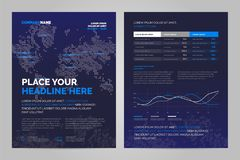 Дизайн плана брошюры иллюстрация вектора