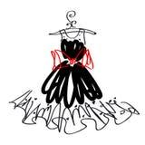 Дизайн платья свадьбы, черно-белый, Стоковые Изображения RF