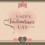 Дизайн поздравительной открытки дня валентинки Стоковые Фотографии RF
