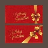Дизайн поздравительой открытки ко дню рождения Стоковое Изображение