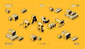 Дизайн полутонового изображения вектора слова линии нагнетания пакета