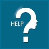 Дизайн помощи вопрос о метки иконы 3d представляет Плоская иллюстрация Стоковые Фото