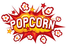 Дизайн попкорна Стоковые Изображения