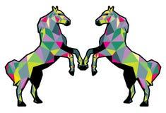 Дизайн полигона лошадей Стоковая Фотография