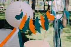 Дизайн праздника на праздник детей в стиле boho Стоковое Фото