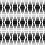 Дизайн предпосылки безшовного геометрического вектора картины простой при формы диаманта сделанные mono прямоугольников и квадрат Стоковое Изображение