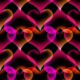 Дизайн предпосылки безшовной лампы лавы сердца картины абстрактной жидкостной красочный бесплатная иллюстрация
