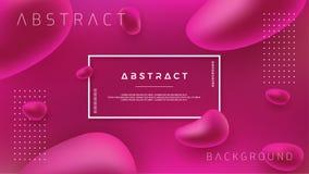 Дизайн предпосылки вектора конспекта жидкий жидкостный Конспект 3D голубой, пурпурная, розовая предпосылка бесплатная иллюстрация
