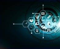 Дизайн предпосылки концепции нововведения картины значка здравоохранения медицинский стоковое изображение rf