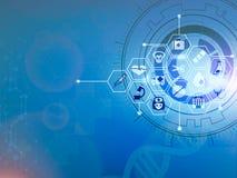 Дизайн предпосылки концепции нововведения картины значка здравоохранения медицинский стоковое фото
