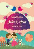 Дизайн предпосылки свадьбы Пары на саде Стоковая Фотография