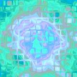 Дизайн предпосылки голубого зеленого цвета текстурированный конспектом с кривыми и r иллюстрация вектора