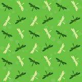 Дизайн предпосылки искусства вектора Dragonfly для ткани и оформления Стоковая Фотография RF
