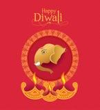 Дизайн предпосылки Diwali вектора Стоковые Изображения RF