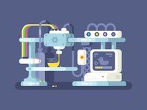 Дизайн прибора печатания плоский Стоковая Фотография