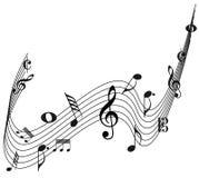 Дизайн примечания музыки декоративный стоковое изображение