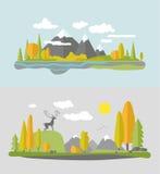 Дизайн природы осени Иллюстрация вектора