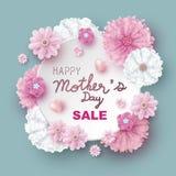 Дизайн продажи дня матерей вектора цветков Стоковые Изображения