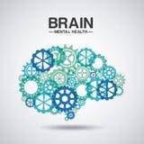 Дизайн психических здоровий иллюстрация вектора
