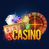 Дизайн плаката, знамени или рогульки казино Стоковые Изображения RF