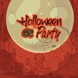 Дизайн плаката, знамени или рогульки партии хеллоуина Стоковые Фото