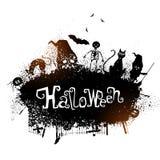 Дизайн плаката, знамени или рогульки партии хеллоуина Стоковые Фотографии RF