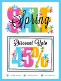 Дизайн плаката, знамени или рогульки продажи весны Стоковая Фотография RF
