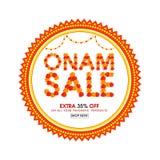 Дизайн плаката, знамени или рогульки продажи Onam Стоковое Фото