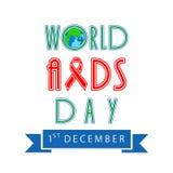 Дизайн плаката или знамени на Международный день СПИДА Стоковые Изображения RF
