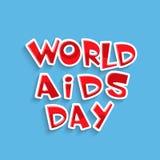 Дизайн плаката или знамени на Международный день СПИДА Стоковая Фотография RF