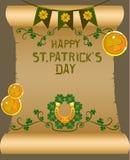 Дизайн плаката дня ` s St. Patrick Стоковые Изображения