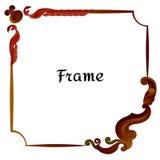 Дизайн рамки античный иллюстрацией вектора Стоковая Фотография