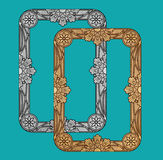 Дизайн рамки вектора винтажный золотой Стоковые Изображения