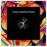 Дизайн рамки конспекта сумасшедший красочный квадратный стоковые изображения