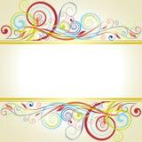 Дизайн рамки предпосылки флористический Стоковое фото RF