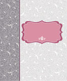 Дизайн рамки шаблона для карточки иллюстрация штока