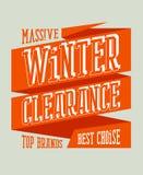 Дизайн распродажи зимы на ленте. Стоковое Изображение