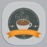 Дизайн рекламы кофейни в объекте формы каботажного судна Стоковое Фото