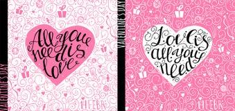Дизайн рогульки дня валентинок Vector шаблон приглашения, рогульки, плаката или поздравительной открытки Стоковые Изображения RF