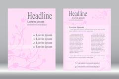 Дизайн рогульки, предпосылка пинка вектора конспекта шаблона брошюры иллюстрация штока