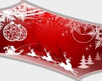 Дизайн рождества красный с рамкой Стоковое фото RF