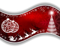 Дизайн рождества красный Стоковые Фотографии RF
